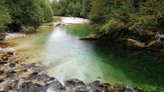Słowenia, w drodze na wodospad Savica