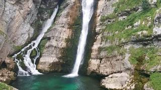 Słowenia, wodospad Savica