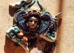 Taormina - Trinacja (meduza z głową kobiety i trzema nogami)