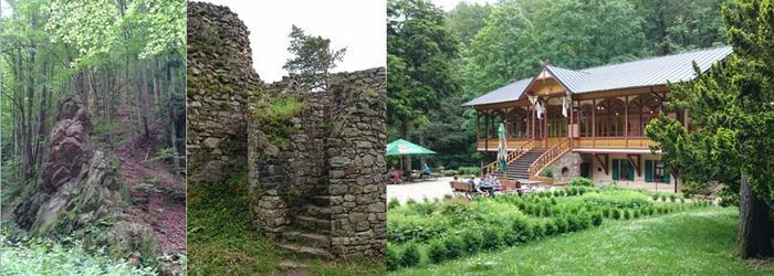v Racim udoli + ruiny zamku Rychleby