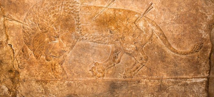 Płaskorzeźba na murze wokół Niniwy
