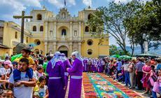 Niedziela Palmowa w Gwatemali - Antigua