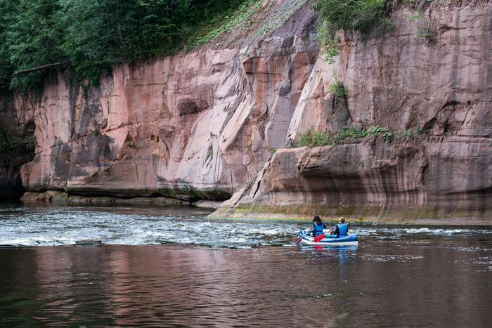 Rzeka Gauja, Łotwa