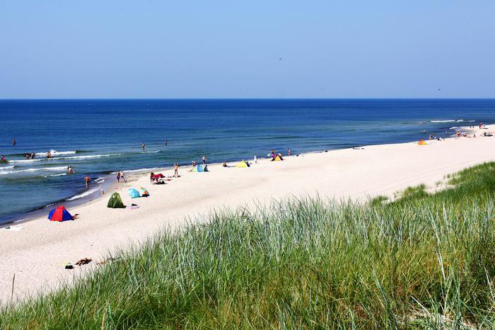 Plaża na Mierzei Kurońskiej