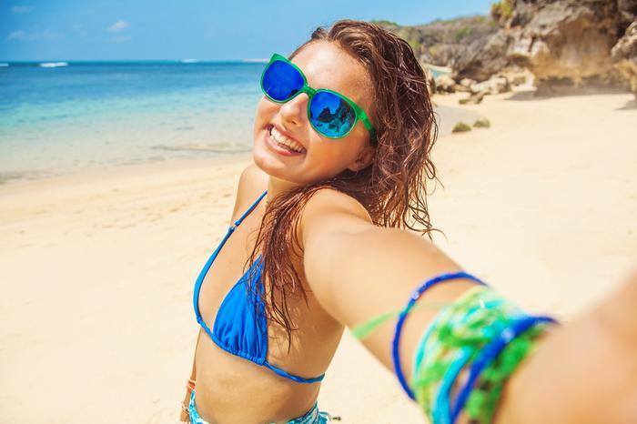 Selfie na plaży