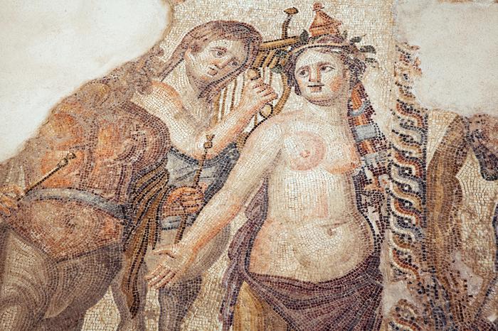 Mozaiki podłogowe w Pafos