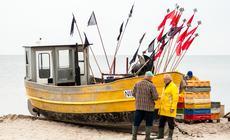 Jeden z kutrów rybackich w Niechorzu