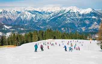 Narty w Słowenii. Ośrodek narciarski niedaleko Cerkna