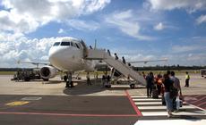 Pasażerowie podczas boardingu
