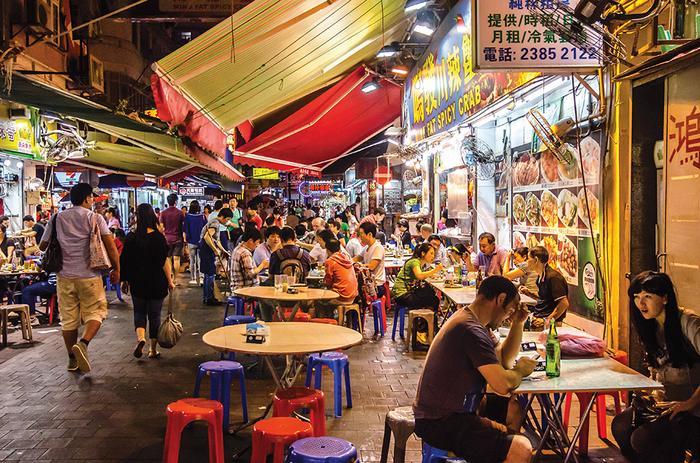 Street food w Hongkongu