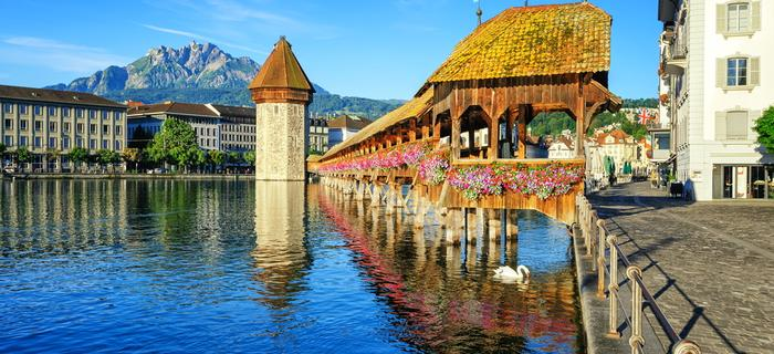 Drewniany most w Lucernie