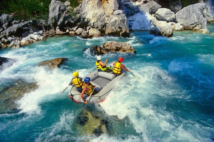 Rafting na Soczy w Słowenii