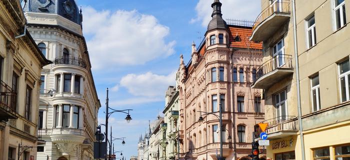Ul. Piotrkowska w Łodzi