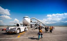 Na lotnisku. Zdjęcie ilustracyjne
