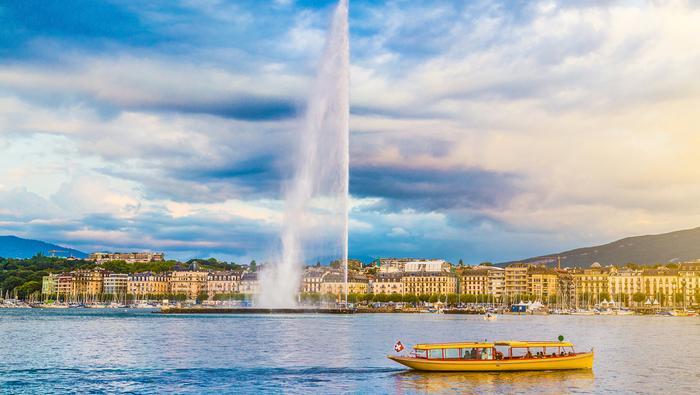 Jet d'eau to najsłynniejsza szwajcarska fontanna