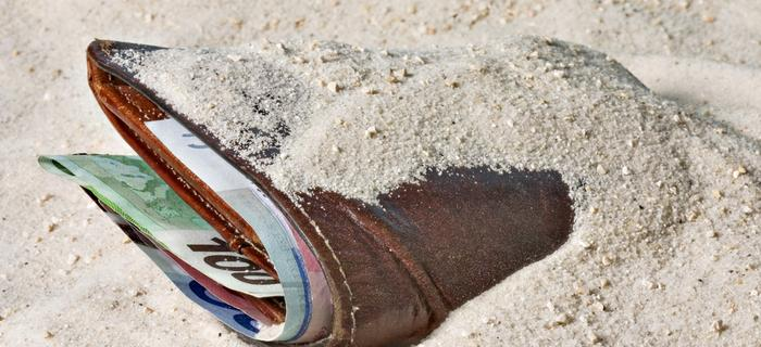 Portfel na plaży
