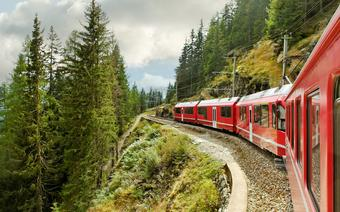 Pociąg z Włoch do Szwajcarii
