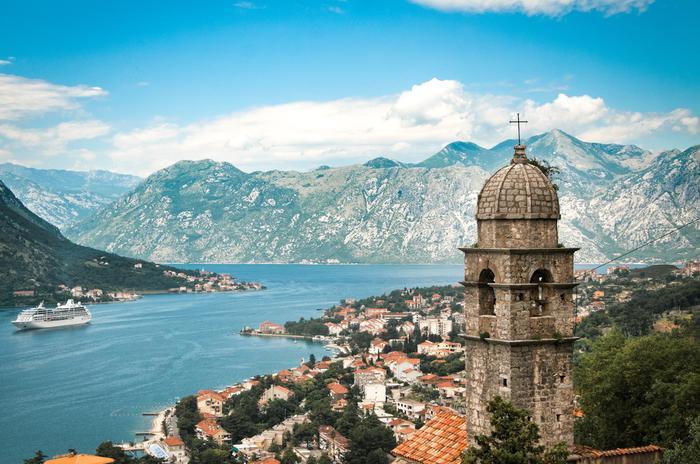 Czarnogóra, widok na Bokę Kotorską