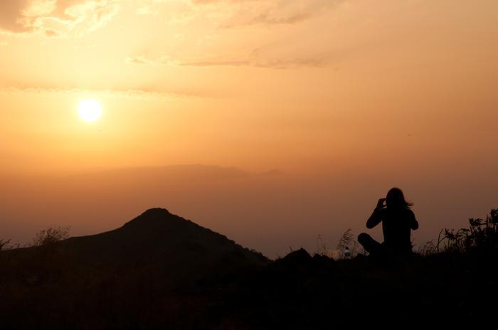 Zachód słońca nad Bieszczadami