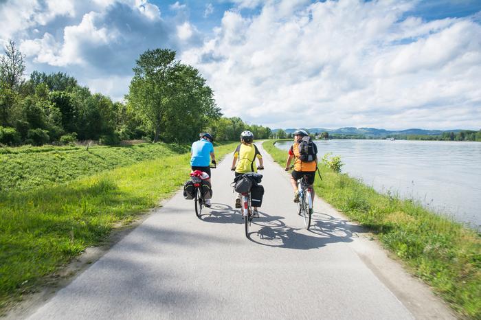 Trasa rowerowa wzdłuż Dunaju w Austrii