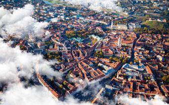 Stare miasto w Wilnie z lotu ptaka