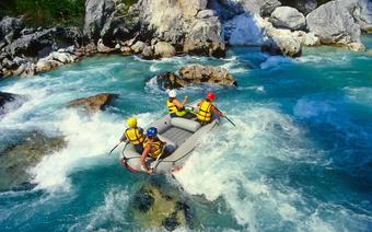 Spływ rzeką Soczą w Słowenii
