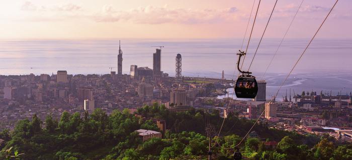 Gruzja, widok na Batumi