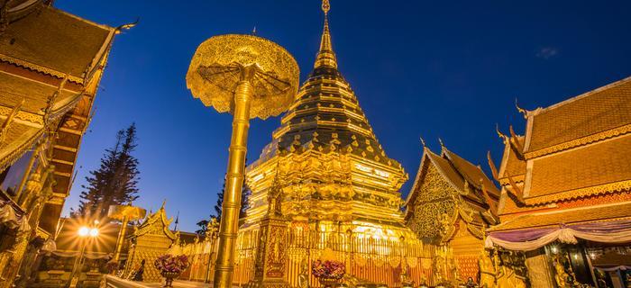 Wat Pra That Doi Suthep w prowincji Chiang Mai