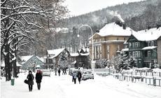 Krynica Zdrój zimą