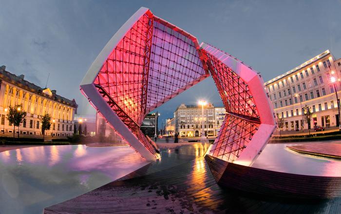 Fontanna na Placu Wolności w Poznaniu
