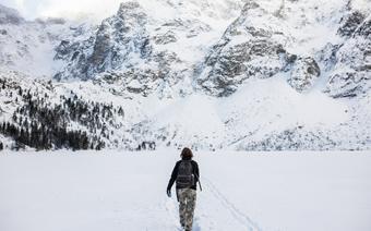 Tatry Wysokie, Morskie Oko zasypane śniegiem