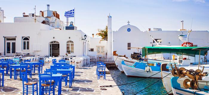 Wioska rybacka Naousa na wyspie Paros
