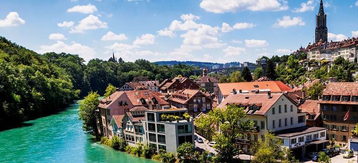 Szwajcaria, Berno. Rzeka Aare i starówka