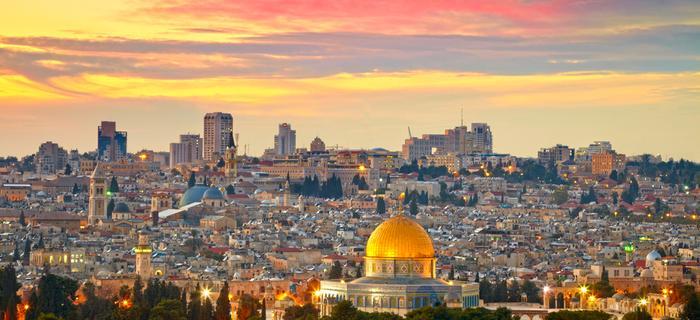 Widok na Jerozolimę z wyróżniająca się złotą Kopułą na Skale - jednym z ważniejszych punktów wycieczki po mieście
