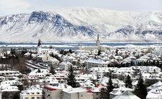 Widok na Reykjavik, stolicę Islandii