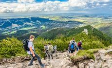 Widok z Sarniej Skały na Zakopane