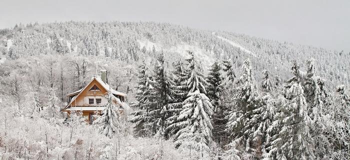 Piękna polska zima w Beskidach