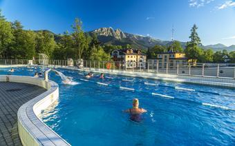 Aqua Park Zakopane, kąpiel z widokiem na Tatry