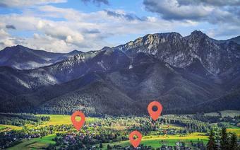 Zakopane – mapa, wizualizacja na widoku z Gubałówki
