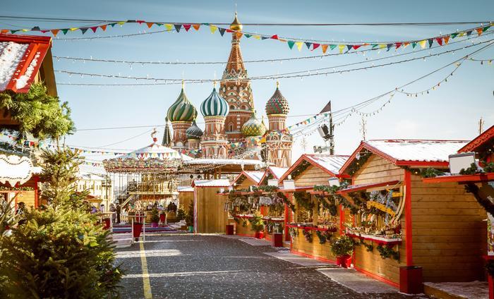 Jarmark świąteczny w Moskwie