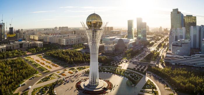 Kazachstan, centrum Astany, stolicy kraju