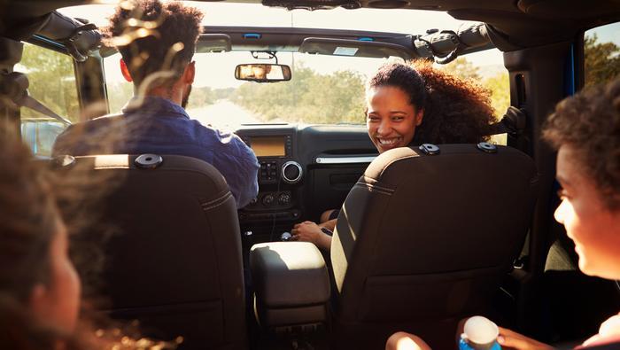 Rodzinna podróż samochodem