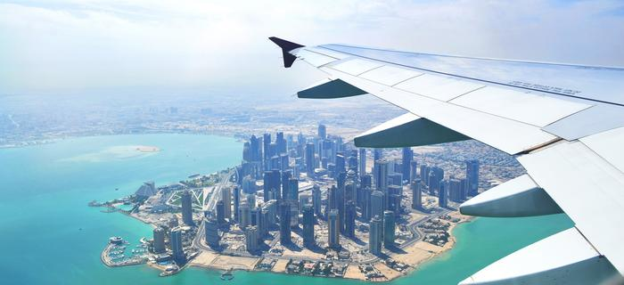 Samolot nad Doha