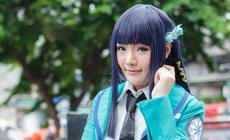 Japońska nastolatka przebrana za bohaterkę anime