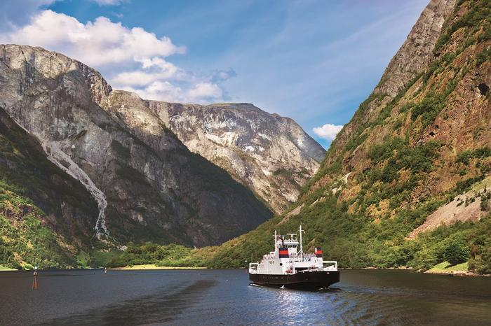 Norwegia, prom na Sognefjord