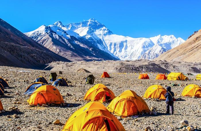 Base Camp pod Mount Everest