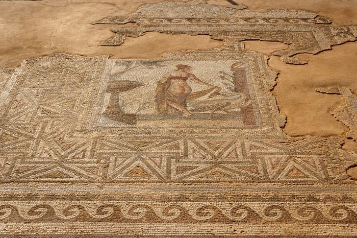 Cypr, Mozaika pzedstawiająca Ledę i łabędzie, w starym Pafos