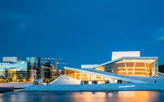 Gmach słynnej opery w Oslo