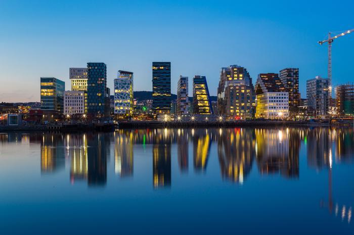 Oslo, położona nad wodą dzielnica Bjorvika