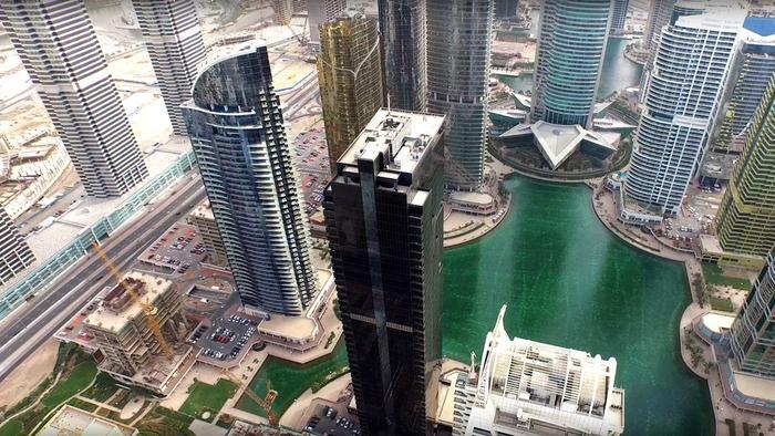 Dubaj z lotu drona